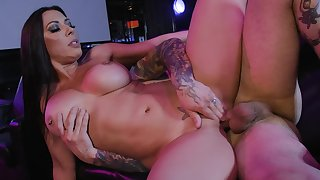 Liberality Rachel Starr shows off on tap the bar in extreme XXX