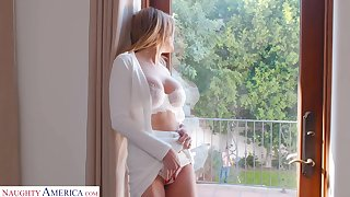 Hot single milf Linzee Ryder is making love with young handsome gardener