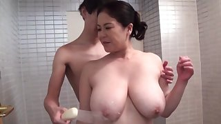 Incautious hardcore sex for the busty mature Japanese mam