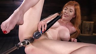 Solo woman uses the fucking contraption to suit her dirty porn needs