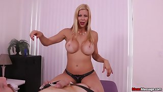 Awesome MILF Alexis Fawx uses soft hands to operation love affair the perfect POV handy