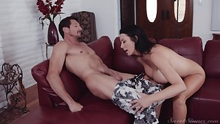 Hot pain in the neck mature wife Reagan Foxx knows how to ride a stiff cock